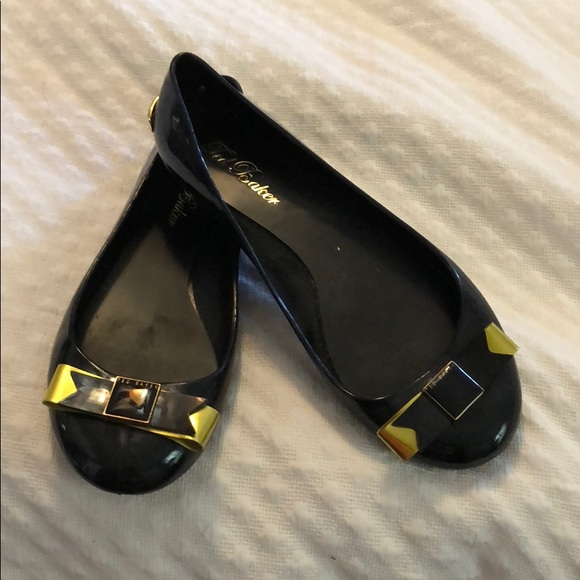 5eee4957a8 Ted Baker London Shoes | Jelly Flats Black Size 7 With Bow | Poshmark
